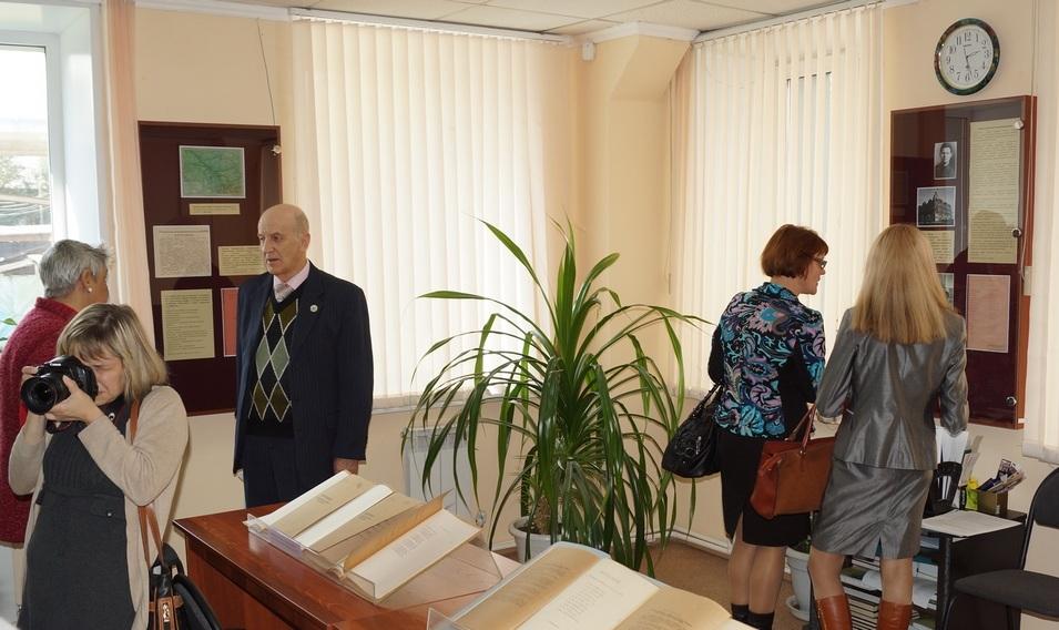 Презентация книги и открытие выставки к 70-летию области. 2014