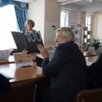 """Презентация книги """"Век с любимой газетой"""" в ТОУНБ: Н. Маскина, Г. Скарлыгин. 15 марта 2018 г."""