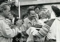 приезд в Томск государственного академического малого театра. Июнь 1989 г. На первом плане Виктор Коршунов и Юрий Соломин.