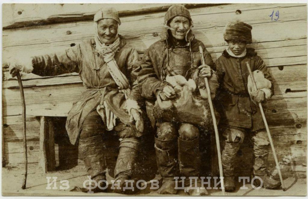 Почтовые открытки природы и быта Якутии к. XIX- н. XX в.  Коллекция С. А. Малых, привезенная из ссылки в Якутскую область. 1904-1905 гг. ЦДНИ ТО. Ф. 5640. Оп. 1. Д. 39. № 19. Надпись: