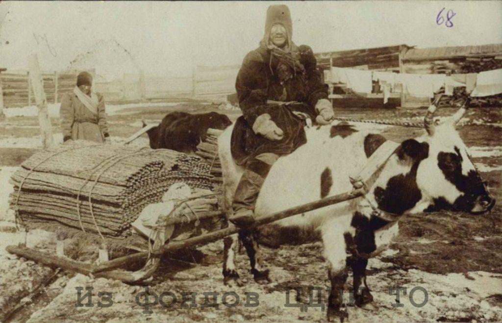 Почтовые открытки природы и быта Якутии к. XIX- н. XX в.  Коллекция С. А. Малых, привезенная из ссылки в Якутскую область. 1904-1905 гг. ЦДНИ ТО. Ф. 5640. Оп. 1. Д. 39. № 68. Надпись на обороте: