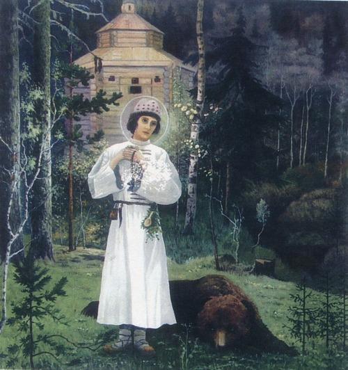 Юность преподобного Сергия. Копия картины Нестерова М. В.